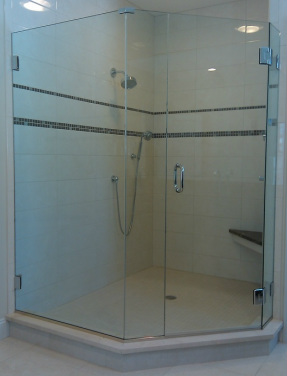 Custom Neo-Angle Shower Enclosure
